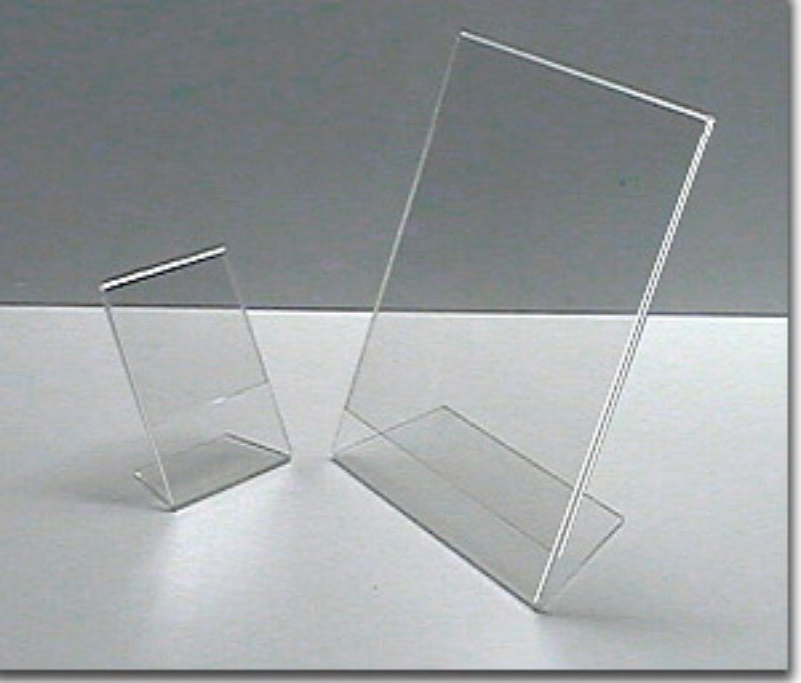 Display Vertical de Mesa em acrílico cristal