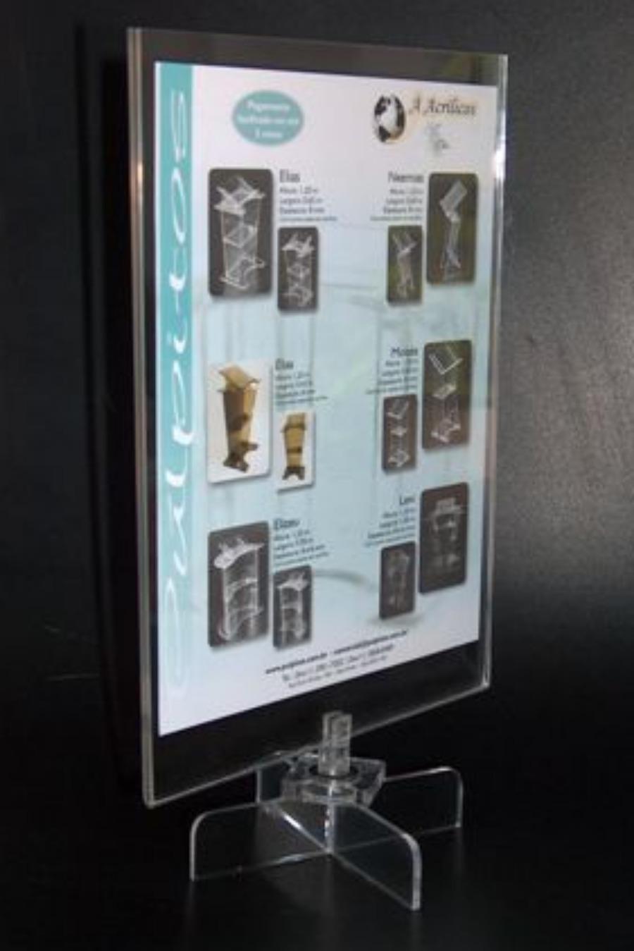 Expositor de Mesa em Acrílico cristal