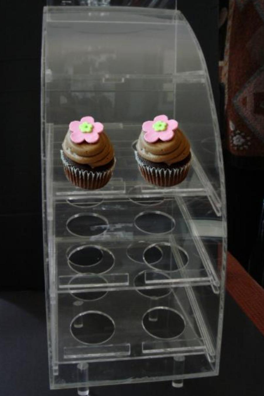 Porta Cupcake em Acrílico cristal
